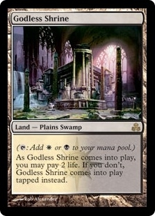 Magic the Gathering Guildpact Single Godless Shrine Foil