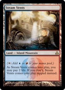 Magic the Gathering Guildpact Single Steam Vents Foil - SLIGHT PLAY (SP)