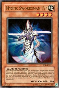 Yu-Gi-Oh Soul of the Duelist Single Mystic Swordsman LV4 Ultra Rare (012)