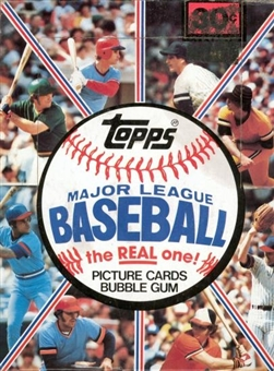 1981 Topps Baseball Wax Box