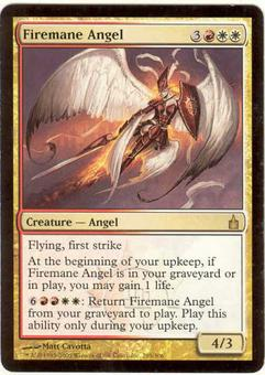 Magic the Gathering Ravnica Single Firemane Angel - SLIGHT PLAY (SP)