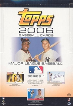 2006 Topps Series 1 Baseball Rack Box