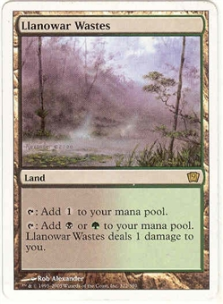 Magic the Gathering 9th Edition Single Llanowar Wastes - SLIGHT PLAY (SP)