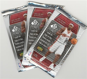 2005/06 Upper Deck SP Authentic Basketball Hobby Pack