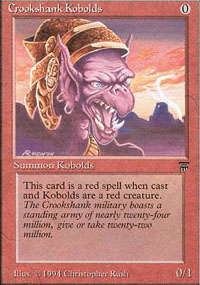 Magic the Gathering Legends Single Crookshank Kobolds UNPLAYED (NM/MT)