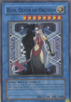 Yu-Gi-Oh Shadow Of Infinity 1st Edition Ruin, Queen Of Oblivion Super Rare