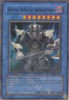 Yu-Gi-Oh Shadow Of Infinity 1st Edition Demise, King Of Armageddon Super Rare