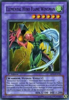 Yu-Gi-Oh Jaden Yuki Single Elemental Hero Flame Wingman Super Rare