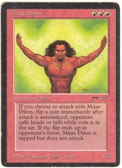 Magic the Gathering Arabian Nights Single Mijae Djinn - MODERATE PLAY (MP)