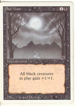 Magic the Gathering 3rd Ed (Revised) Single Bad Moon - SLIGHT PLAY (SP)