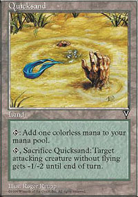 Magic the Gathering Visions Single Quicksand UNPLAYED (NM/MT)