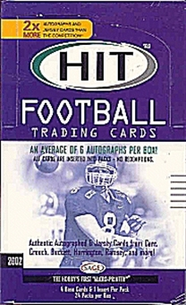 2002 Sage Hit Football Hobby Box