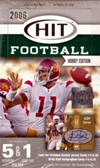2006 Sage Hit Football Hobby Box
