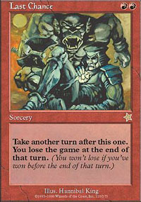 Magic the Gathering Starter Single Last Chance UNPLAYED (NM/MT)