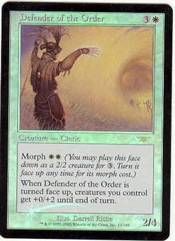 Magic the Gathering Legions Single Defender of the Order Foil