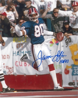 James Lofton Autographed Buffalo Bills 8x10 Blue Jersey Football Photo