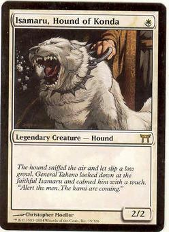 Magic the Gathering Champs of Kamigawa Single Isamaru, Hound of Konda - SLIGHT PLAY (SP)