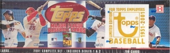 2001 Topps Baseball Factory Set (Box) (Employee Edition)