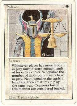 Magic the Gathering 3rd Ed (Revised) Single Balance - MODERATE PLAY (MP)