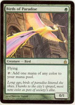 Magic the Gathering Ravnica Single Birds of Paradise - SLIGHT PLAY (SP)