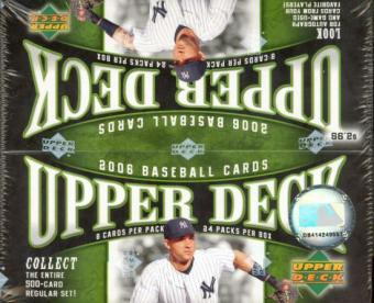 2006 Upper Deck Series 1 Baseball 24 Pack Box