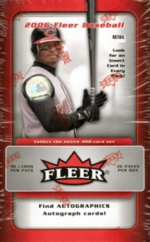 2006 Fleer Baseball 36 Pack Box (Upper Deck)