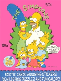 The Simpsons Wax Box (1990 Topps)