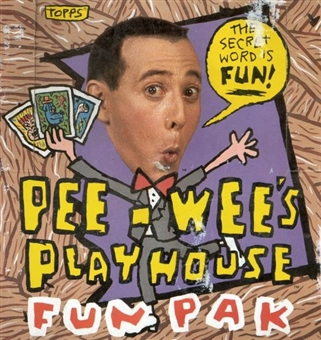 Pee-Wee's Play House Fun Pak Wax Box (1989 Topps) (Pee Wee Herman)