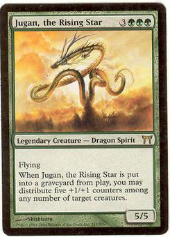 Magic the Gathering Champs of Kamigawa Single Jugan, the Rising Star - SLIGHT PLAY (SP)