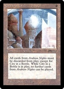 Magic the Gathering Arabian Nights Single City in a Bottle - MODERATE PLAY (MP)