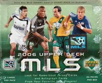 2006 Upper Deck MLS Major League Soccer Hobby Box