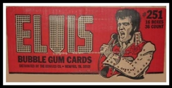 Elvis Presley Wax 16-Box Case (1978 Donruss)