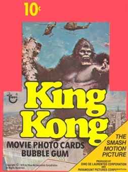 King Kong Wax Box (1976 Topps)