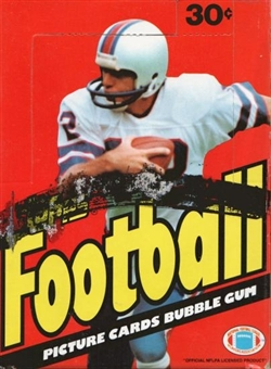 1983 Topps Football Wax Box (in a 1981 Display Box with 1983 Wrappers)