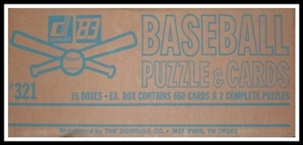 1983 Donruss Baseball Factory 15 Set Case