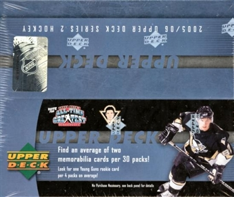 2005/06 Upper Deck Series 2 Hockey 30 Pack Box