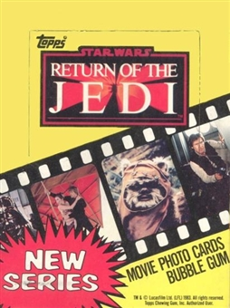 Star Wars Return of the Jedi Series 2 Wax Box (1983 Topps)