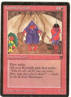 Magic the Gathering Legends Single Kobold Overlord - SLIGHT PLAY (SP)