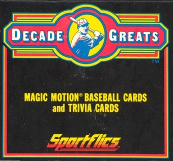 1986 Sportflics Decade Greats Baseball Factory Set