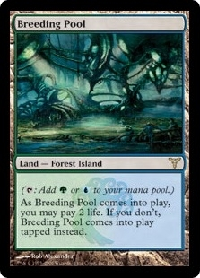 Magic the Gathering Dissension Single Breeding Pool Foil - SLIGHT PLAY (SP)