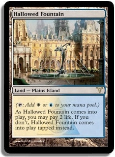 Magic the Gathering Dissension Single Hallowed Fountain LIGHT PLAY (NM)