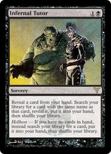 Magic the Gathering Dissension Single Infernal Tutor Foil - SLIGHT PLAY (SP)