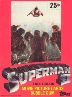 Superman II The Movie Wax Box (1980 Topps)