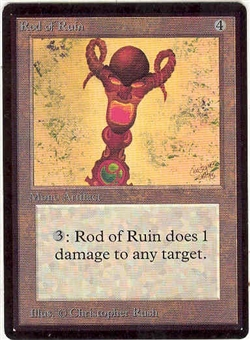 Magic the Gathering Beta Single Rod of Ruin - SLIGHT PLAY (SP)