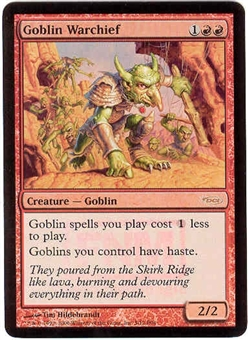 Magic the Gathering Promo Single Goblin Warchief Foil (DCI)