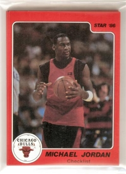 1986 Star Co. Basketball Michael Jordan Bagged Set