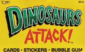 Dinosaurs Attack! Wax 36 Pack Counter Display Box