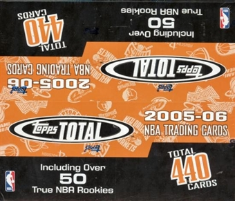 2005/06 Topps Total Basketball 36 Pack Box