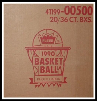 1990/91 Fleer Basketball Wax 20-Box Case