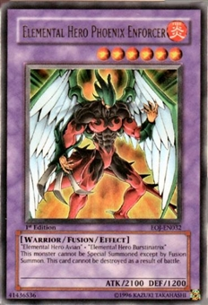 Yu-Gi-Oh Enemy of Justice Single Elemental Hero Phoenix Enforcer Ultra Rare
